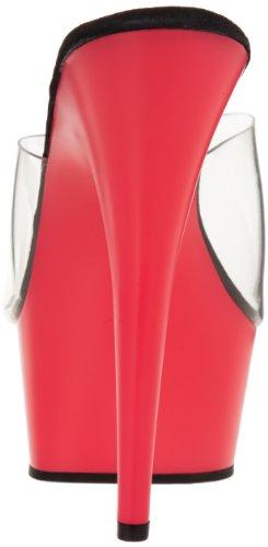 Pleaser DEL601UV/C/NP Mules Femmes Neon Pink