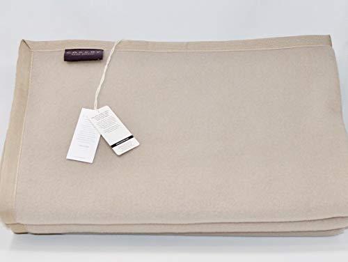 Coccoy coperta matrimoniale in pura lana vergine (50% alpaca e 50% lambswool di merino australiano) linea lane pregiate art. kashan var. ecrù 21 (cm. 270x230 maxi), peso invernale 470 gr/mq