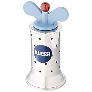 Alessi Pfeffermühle aus Edelstahl mit Flügeln aus PA, hellblau