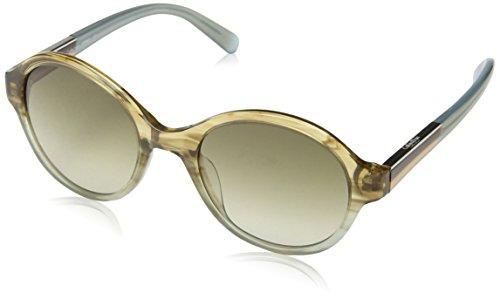 Calvin Klein CK7865 Oval Sonnenbrille, 410 Blue / Brown