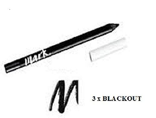 3 x Avon Mark Artist Gel Longwear Pencil Eyeliner – Blackout – replaces Avon's Supershock Gel Eyeliner