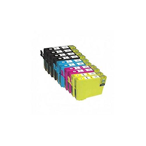T27 KIT 10 Cartucce Compatibili Nero+Colori Per EpsonWorkForce WF-3620 WF-3640 WF-7110 WF-7210 WF-7610 WF-7620 WF-7715 WF-7720