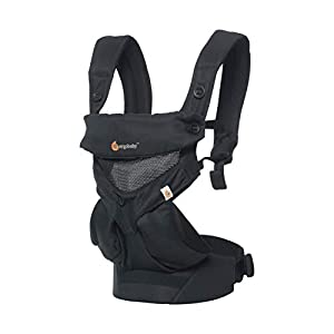 Ergobaby Baby Carrier up to 3Years, 360 Onyx Black Cool Air Mesh Breathable, 4 Carry Positions, Backpack Front Facing   13