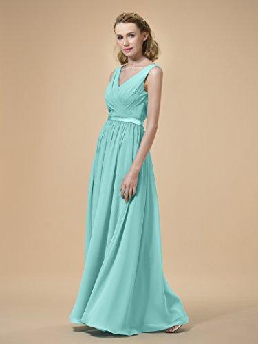 Alicepub ALinie Chiffon Brautjungfernkleider Abendkleider Lang ...