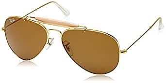 Ray-Ban UV protected Aviator Men's Sunglasses (0RB3129I|57 millimeters|Brown)