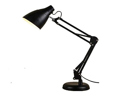 WOQU Eye Student Learning Office Bedroom Headboard Folding Led Iron Table Lamp , Black