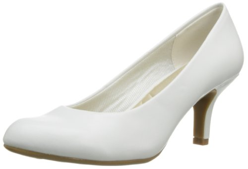 Easy Street Women's Passion Dress Pump,Champagne,6.5 WW US White