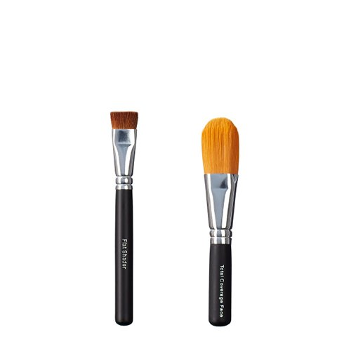 Foto de ON & OFF Flat Shader y Total Cobertura Face Brush Duo, 1er Pack (1 x 0,25 L)