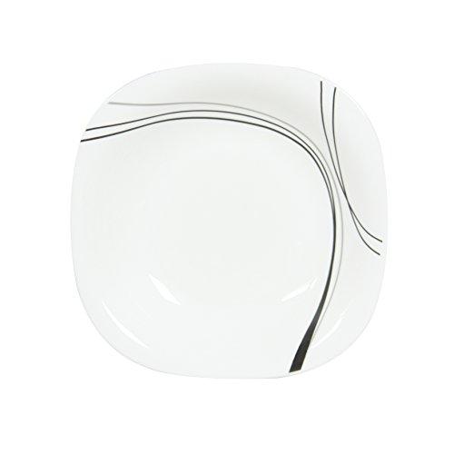 Novastyl Lot de 6 Assiettes Creuse en opale blanc gamme Illusion diamètre 21 cm (Ref: 8013861)