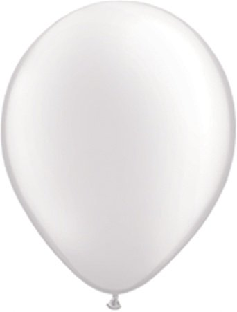 PACK OF 10 PEARL/WHITE METALLIC LATEX BALLOONS, WEDDING CELEBRATION, BIRHTDAY
