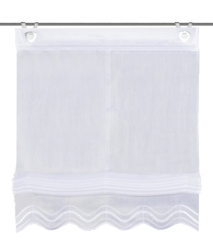 Home Fashion Schmidtgard Stoffe Isla - Visillo (con ojales y ganchos para ventanas)