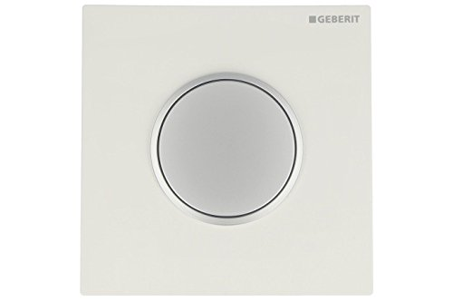 Geberit Betätigungsplatte Sigma10,Urinal pneumatisch, seidenglanz verchromt / Weiß