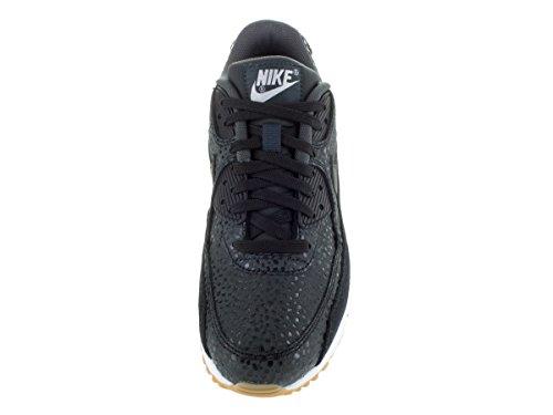Nike Wmns Air Max 90 Prem, Chaussures de Sport Femme, Noir (Schwarz) Noir (Black / Black-Black-White)