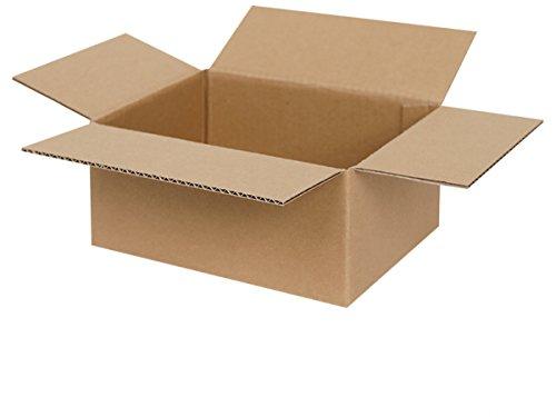 50 Faltkartons 200 x 150 x 90 mm | Versandkarton geeignet für Versand mit DHL, DPD, GLS und Hermes | zwischen 25-1000 Kartons wählbar