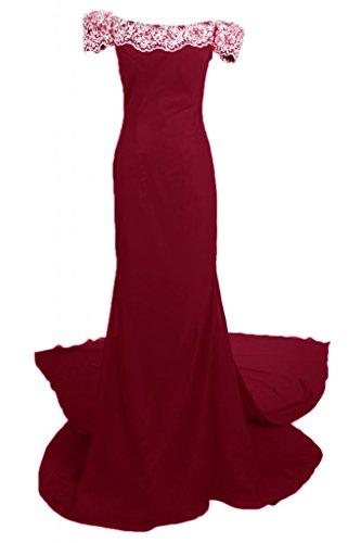 Sunvary Romantic Off-L, scollo a spalla abito da sera Maxi Pageant per vestiti da donna Borgogna