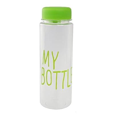 500ml Wiederverwendbare Trinkflasche Kunststoff Sportflasche Trinkflasche Bottle Saft Frucht Milch Tasse Hand Flasche mit Tasche