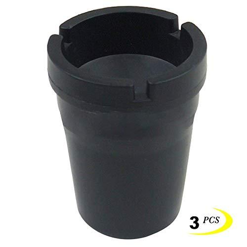 Genmaisima Asche Halter Mini Portable Aschenbecher Zigarette Cup Car Dock Eimer Candy Farbe 3 Stück,Black (Zigaretten Eimer Asche)