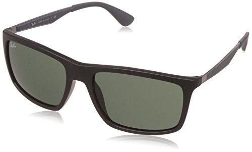 Ray-Ban Unisex Sonnenbrille RB4228 Gestell: schwarz Glas: grün 601S71, Large (Herstellergröße: 58)