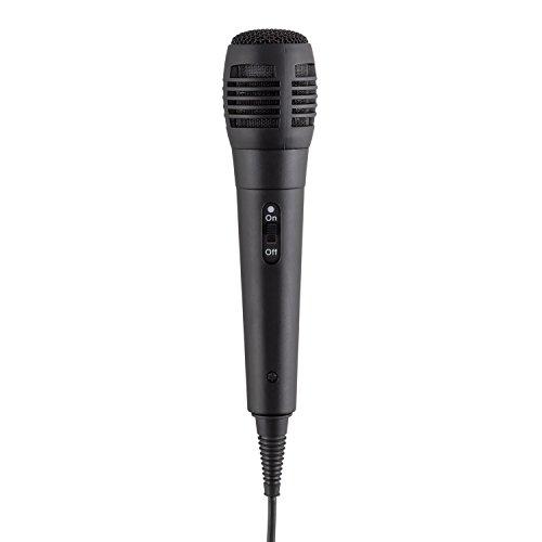 auna KA8P-V2 BK • Karaoke Anlage • Kinder Karaoke Player • Karaoke Set • 3,5 Zoll TFT-Display • 2 x dynamisches Mikrofon • integierter Lautsprecher • Video-Ausgang • CD+G-Player • CD-Player • MP3-fähig • Echo Effekt • A.V.C. Funktion • AUX-Eingang • schwarz - 7