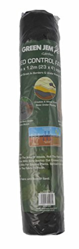 Green Jem Weed Control Fabric, Black, 700x120x0.5 cm