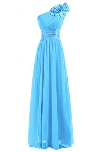 Sunvary Graceful inclinata, per spalla abiti da damigella d'onore abito-Gowns Blue