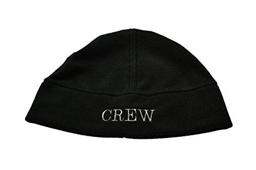 MOTIVEX Mütze Aufschrift CREW, Beanie aus Polartec Micro-Fleece Farbe: schwarz Grösse L-XL (Beanie Crew)