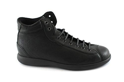 Frau 27T2 Chaussures Homme Noir Milieu des Bottes de Randonnée Peau de Confort