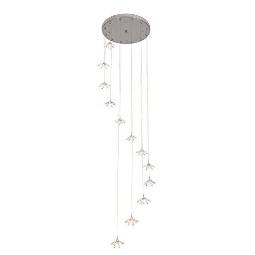 YMXJB Kristall Pendelleuchte Lampe moderne Kronleuchter Schlafzimmer Bar Café Wohnzimmer Anhänger Light(warm light) -