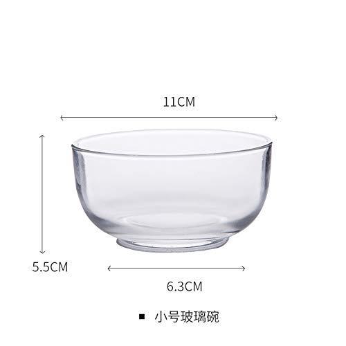 Cuenco de cristal transparente japonés cuenco de vientre redondo cuencos instantáneos cuenco para el huevo al vapor cuenco de cristal doble cuenco de fruta cuenco de yogur cuenco de ensalada T