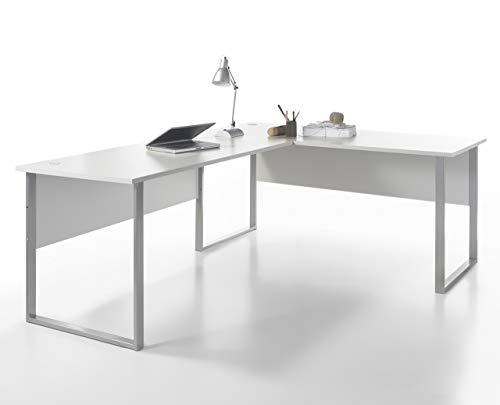 Stella Trading Office Lux Winkelkombination, Schreibtisch, Eckschreibtisch, Holzdekor, Lichtgrau, 223 x 77 x 73 cm