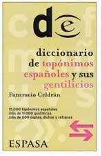 Diccionario de topónimos y sus gentilicios por Pancracio Celdrán