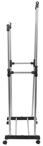 Haneez-Clothes-and-Garment-Hanging-Rack-Foldable-Double-Drying-Stand-with-wheels-52-Feet-Long-Dual-Clothes-Horse-for-Home-Shop-Portable-Clothes-Rail-Premium-Stainless-Steel