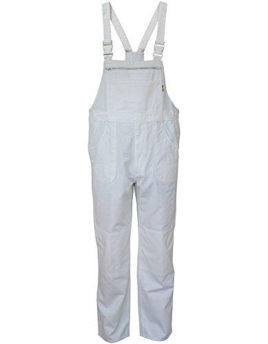 Carson Classic Workwear Arbeitslatzhose aus reiner Baumwolle, 1 Stück, 56, weiß, KTH26.W