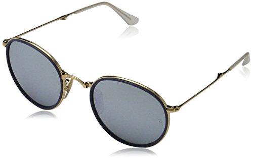 Ray-Ban Unisex Sonnenbrille RB3517, Einfarbig, Gold (Gestell: Gold, Gläser: Gelb Flash 001/93), Small (Herstellergröße: 51)