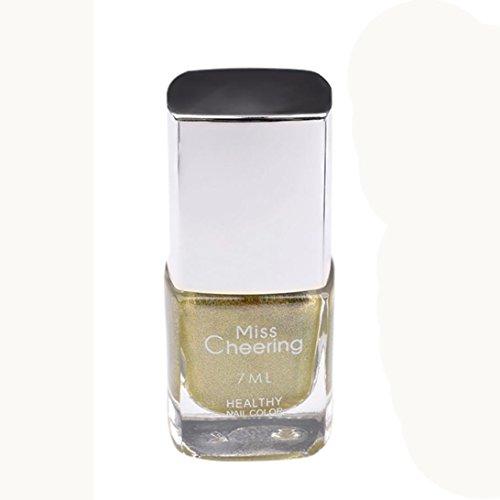 Zarupeng Glitzer Nagellack - 3D Gel Effekt - Nagel Puder kein polnisches Folien-Nails Kunst Shine Nail Gel, 7ml (One Size, E)