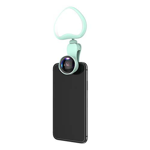 Handy-Selfie-Licht-Clip-Typ LED-Helligkeit einstellbares Licht mit Objektiv USB-Aufladung,Pink