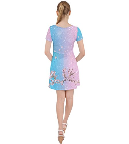 CowCow - Jupe - Femme rouge Red Baby Blue & Pink