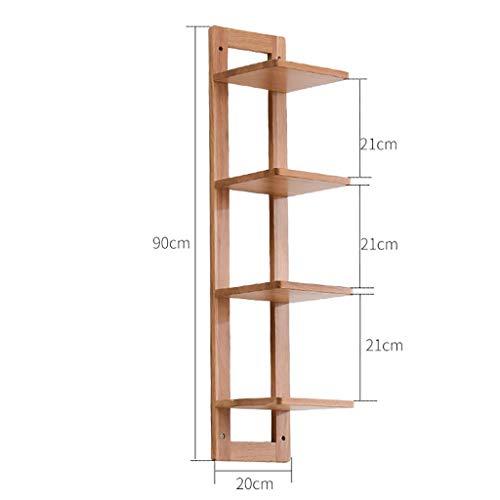 Rack libreria scaffale a muro in legno massello scaffale a muro camera da letto libreria scaffale creativo parete attrezzata pensile (colore : a, dimensioni : 20 * 90cm-b)