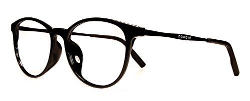 NOWAVE Neutralbrille für PC, Tablet, Smartphone, TV und Gaming. Beseitigt Ermüdung und Reizung der Augen. Ultra-leichtes Metallgestell. Accessoire für Büro und Schule/ Studium. Entspannende Brille mit 40% Schutz vor blauem Licht und 100%-igem UV-Schutz. PC-Bildschirm-Filter ITALIAN STYLE 2017 -Buckler (Ophthalmische Linsen)