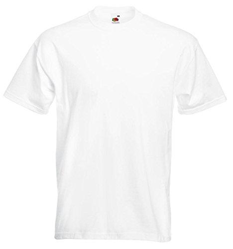 Fruit of the Loom Herren T-Shirt Super Premium Tee White