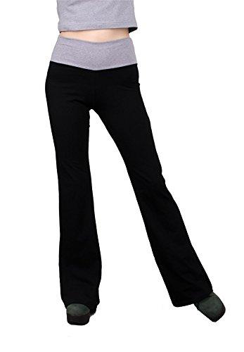 Lofbaz Damen Leggings Flared Übung Sport Jogginghose Yoga Hose Wine Größe S -