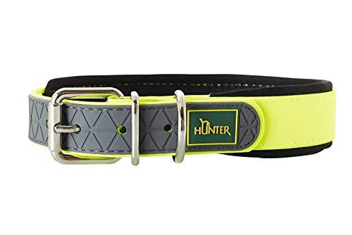HUNTER Convenience Comfort Halsband für Hunde, Kunststoff, Neopren, wasserfest, schmutzabweisend, gepolstert, 45, neongelb -