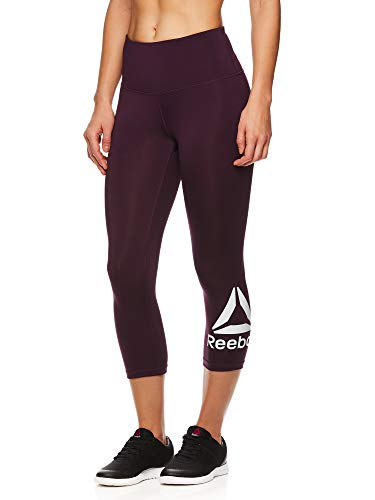 Reebok Women's Capri Workout Leggings w/High-Rise Waist - Cropped Performance Compression - Capri Reebok Damen