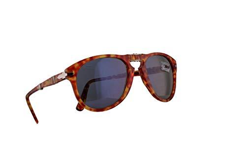Persol 714-S Folding Sonnenbrille Rot Mit Blauen Gläsern 54mm 106056 PO 0714 PO0714 PO714