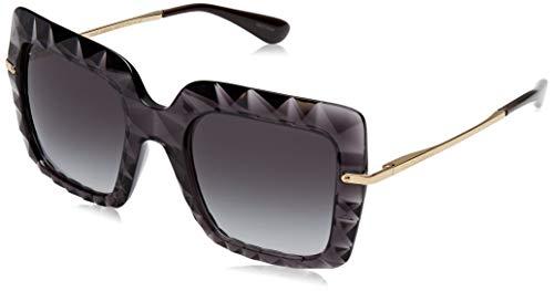 Dolce & gabbana 0dg6111 504/8g 51 occhiali da sole, grigio (transparent grey/gradient), donna