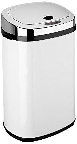 Dihl Abfalleimer mit automatischem Deckel, rechteckig, 30l, Weiß - Stehen Wand Teller