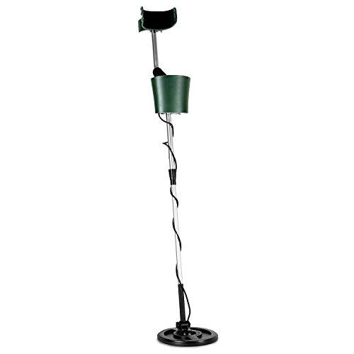 DURAMAXX Comfort Metal Detector (Bobina Impermeabile di 20 cm, profondità di Ricerca Fino a 3 m, differenziazione tra Metalli preziosi e Ferrosi, Segnale Acustico) - Verde