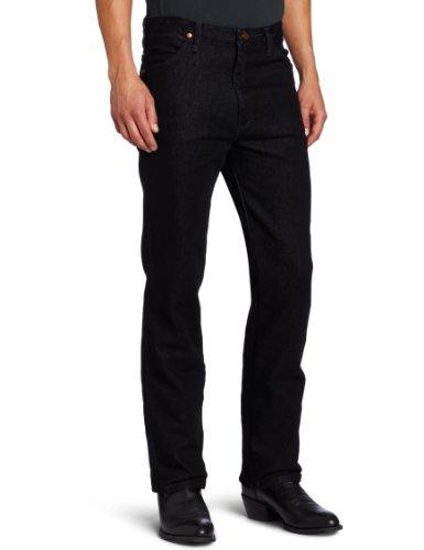 Wrangler Men's Cowboy Cut Slim Fit Jean,Black Stretch,35x34 (Schwarzen Wrangler Cowboy-jeans)
