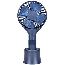 YWLINK Mode Mini Ventilateur de Poche, Main Ventilateur de USB Rechargeable Portable Silencieux, Ventilateur à Piles pour la Maison, Le Bureau, Le Camping et Les Voyages(Bleu)