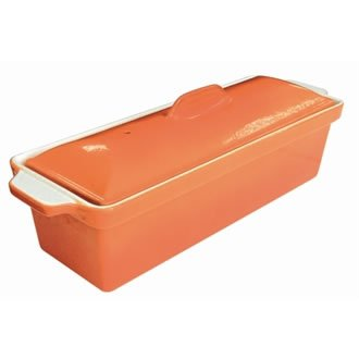 Orange Couleur Terrine Pate: Orange. 110 (h) x 340 (l) x 105 (P) mm.